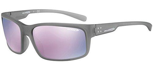 Arnette Herren 0AN4242 24235R 62 Sonnenbrille, Grau (Matte Transparent Grey/Darkgreymirrorpink)