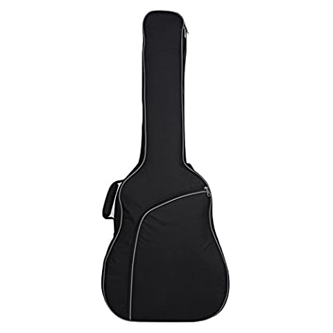 Sel Natural Black 41 Inch Acoustic Guitar Double Straps Padded