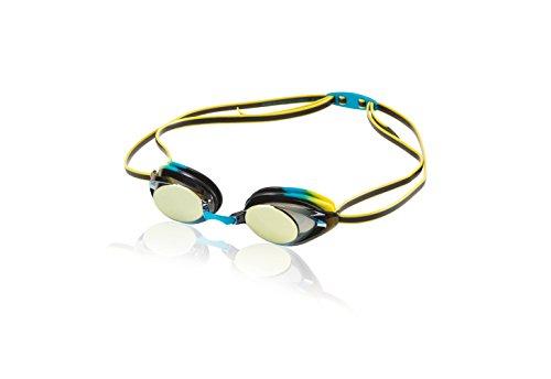 Speedo Jr verspiegelte Schwimmbrille Vanquisher 2.0, Jr. Vanquisher 2.0 Mirrored Swim Goggle, Vivid Teal - Speedo Goggles Jr