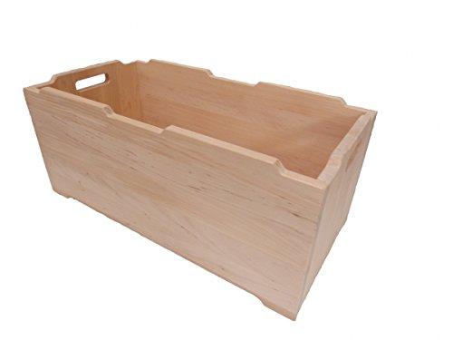 Große Stapel-Ordnungsbox 'Berlin' 6030 Massivholzkiste / Kinder-Stapelbox | weitere Größen vorrätig | für Kindergarten und Kinderzimmer | vielfältige Einsatzmöglichkeiten