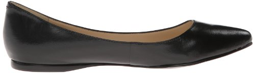 Nine West Speakup Cuir Chaussure Plate Blk Blk