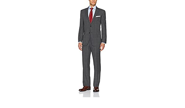 Tommy Hilfiger Mens Wool Stretch Fancy Performance Suit