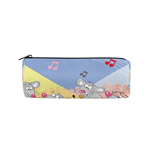 Bonipe Federmäppchen mit Cartoon-Maus, Musik, Party, Notizen, Stiftebox, Reißverschluss, Kosmetiktasche, Make-up-Tasche (Make-up Halloween Maus Für)