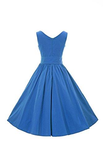 iLover classiques Rockabilly millésime 1950 bat son cercle de robe de ceinture libre blue