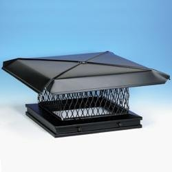 Chimney 13409 Gelco Black Galvanized Chimney Caps - .75in Mesh - 13 Inches x 17 Inches by Copperfield Chimney Supply
