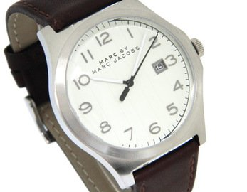 Marc Jacobs MBM5045 43mm Stainless Steel Case Brown Leather Mineral Men's Watch