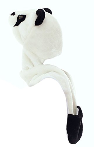DELEY Unisex Cartoon Animal Hat With Long Scarf Gloves Earmuffs Halloween Christmas Winter Cap Beanie Carnival Costumes