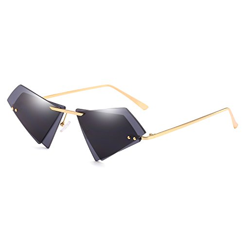 CVOO New Arrival Brand Designer Sunglasses Irregular Women Shades Fashion Rimless Eyewear