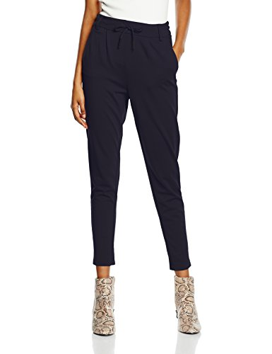 ONLY Damen Tapered Hose Onlpoptrash Easy Colour Pant Pnt NOOS, Gr. 38/L30 (Herstellergröße: M), Blau (Night Sky)