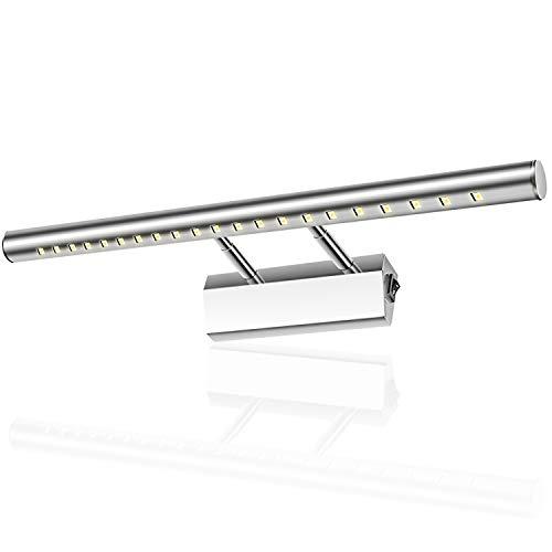 Glighone Aplique Baño Luz de Espejo 21 LED 5W 40cm Lámpara Moderno...