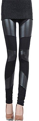 Imixcity Top couleur noire Femmes cousant extensible Retour Tight Leggings Hot Pants Imixcity