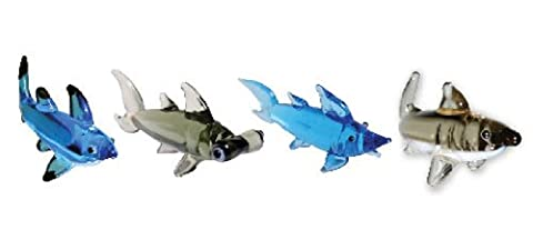 Looking Glass Miniature Collectible - Sharks (4-Pack)