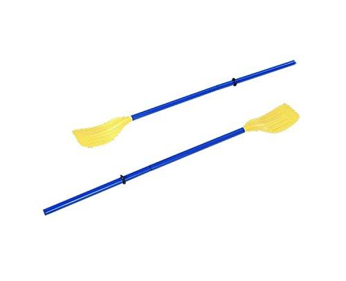 piscine central Lot de 2 Bleu et jaune trois Section durable aviron rames 124,5 cm