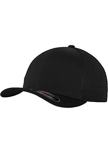 Tactel Flex-cap (Flexfit Erwachsene Mütze Mesh Trucker Small / Medium,Black)