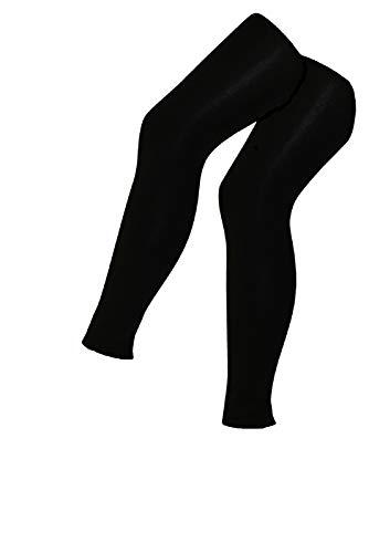 Avenue Spandex-leggings (Tobeni 2 Damen Thermo-Leggings Innenfleece lang für Sport und Freizeit Farbe Schwarz Grösse 36-38/40-42 = M/L)