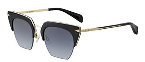 Rag & Bone Rnb 1007/S Sonnenbrille-Dark Grau Farbverlauf Objektiv schwarz gold (02m29o)-51mm
