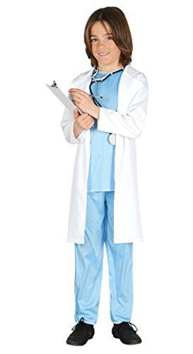 Doktor Kostüm mit Arztkittel Ärztin Kinder Kinderkostüm Kittel Gr. 98-146, Größe:98/104