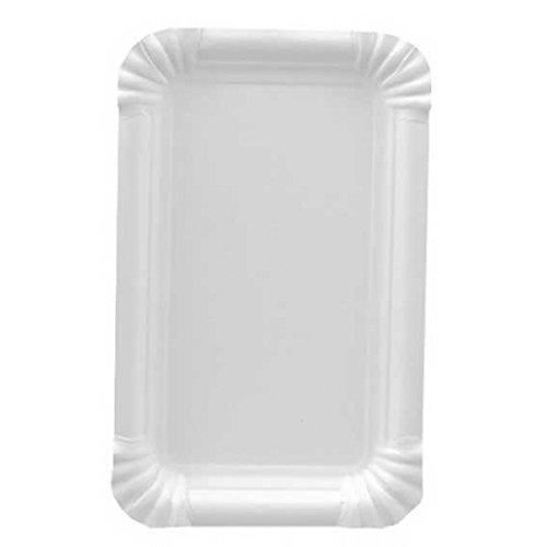 Gastro-Bedarf-Gutheil 250 Pappteller Kuchenteller Einweg Pappe 13 x 20 cm 13 Teller