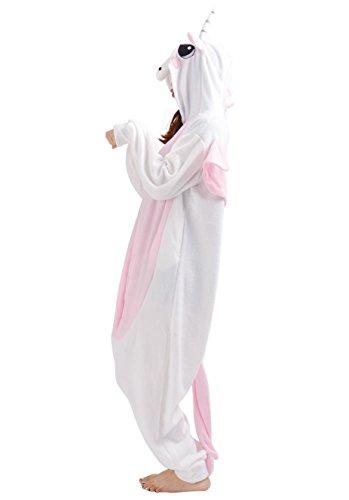 SAMGU Pigiama Animale Costume Onesie Adulto Biancheria da notte Kigurumi Cosplay Rosa