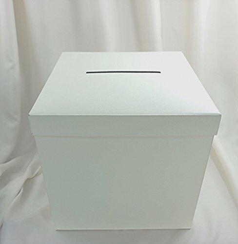 wertheim-deko Geldbox Kartenbox Geschenkschachtel mit Schlitz Creme Hochzeit 30 x 30 x 30 cm (Geld Box Mit Schlitz)