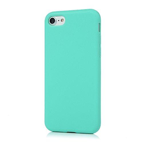 Badalink Hülle für iPhone 7 TPU Case [3 Packs] Matt Einfarbig Cover Ultraslim Dicke 1.5mm Handyhülle Schutzhülle Silikon Bumper Schutz Tasche Schale Antikratz Backcover in Mintgrün Mintgrün