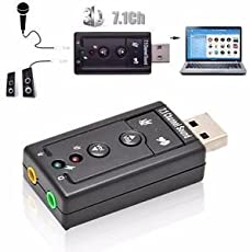 Galaxy Hi-Tech® 7.1 Channel USB External Sound Card Audio Adapter with Mic USB Sound Card Adapter for Windows and Mac, Plug and Play No Drivers Needed