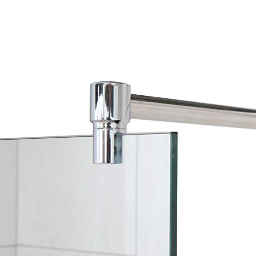Stabilisierungsstange für Duschen, Stabilisator Duschwand, Stabilisationsstange Glas-Wand (100cm, Chrom)