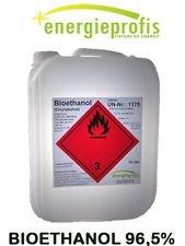 1 x 10 Liter HIGH QUALITY Bioethanol 96,5% Unser hochwertiges Bioethanol ist insbesondere für die Verwendung in Ethanol - Kaminen geeignet. Wir garantieren Ihnen einen Ethanolgehalt von 96,5% vol, sowie eine rußfreie, rückstandslose und geruchsneutra...