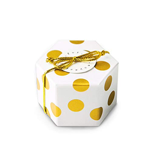 TOYANDONA 20 Stück Party Geschenk-Box Hexagon Candy Box für Hochzeit Geburtstag Party - Keine Karte und Gold Faden (Baby-dusche-taschen Und Boxen)