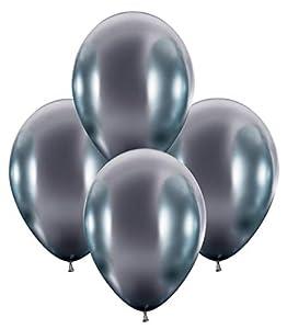 Karaloon G12089 - Globos de látex (30 - 32 cm), Color Plateado