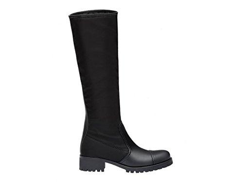 Prada Damen 3W61101o4rf0002 Schwarz Leder Stiefel (Prada Stiefel)