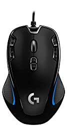 Logitech G300s Wired Gaming Mouse, 2,500 DPI, RGB, Lightweight, 9 Programmable Controls, On-Board Memory, Compatible with PC / Mac - Black
