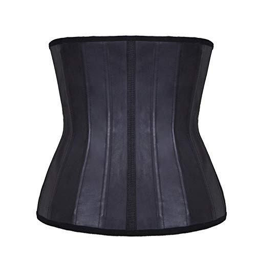 Für Kostüm Korsett Erwachsene Damen - SexyCP BH-Hemden für Damen Kostüme für Erwachsene Body Rubber Korsett 2 Lagen 25 Stahl Bone Rubber Bauch Körper schwarz XXXL