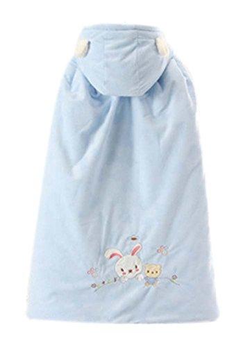 Baby-Mantel-Fall-Winter-Fonds starke warme Baumwolle Schal Kaninchen-Muster blau