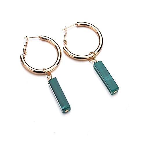 Lovinda Mädchen Vergoldete Ohrringe Metall Kreis Zirkon Ohrringe Frauen Kreative Mode Ohrringe Günstige Schmuck für Dame Geburtstagsgeschenk
