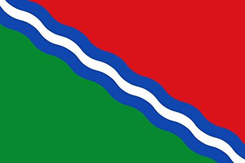 magFlags Bandera Large MUNICIPAL BANDERA RECTANGULAR DE PROPORCIONES 2 3, FORMADA POR TRES FRANJAS ONDADAS DIAGONALES DEL ANGULO SUPERIOR DEL ASTA AL INFERIOR DEL BATIENTE   bandera paisaje   1.35m