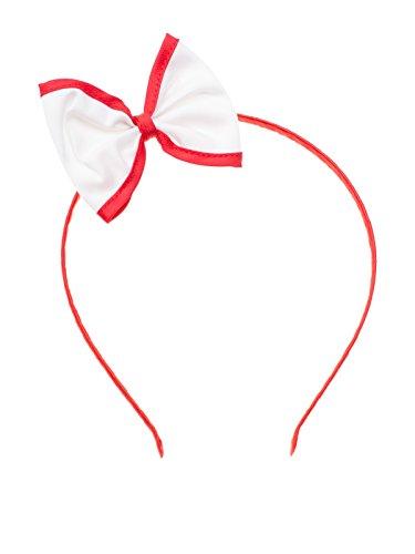 SETRINO® Nickituch Halstuch Bandana Haarband Rockabilly Retro Look für Frauen crem-weiss-rot