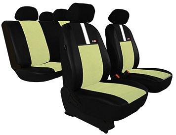 Housse de siège de voiture universelles GT8 (ECO-CUIR + ALKANTARA ) - AUDI ( 50 - 80 - 90 - 100 - A2 - A3 - A4 - A6) (Beige)