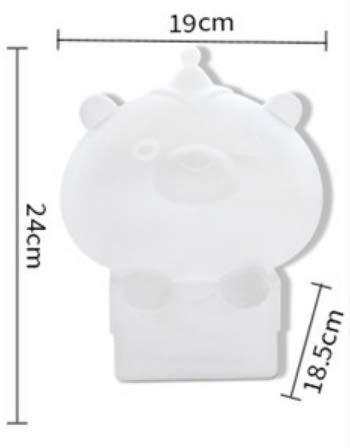 Rabbit Light Children'S Room Cartoon Night Light Usb Charging Pregnant Woman Bedside Lamp Beat Led Light19 X 18.5 X H24Cm (Box Bear Key Warm Light) -