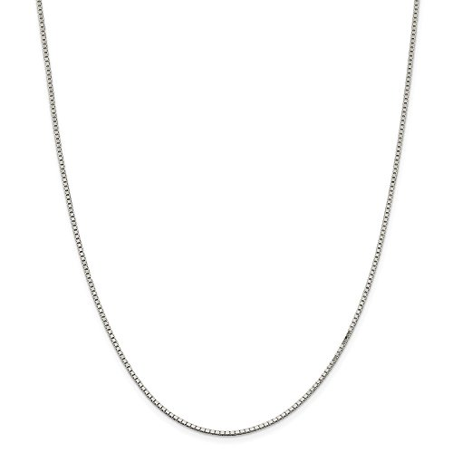 IceCarats Designer Jewellery Sterling Silver 1.5Mm Box Chain In 18.00 Inch