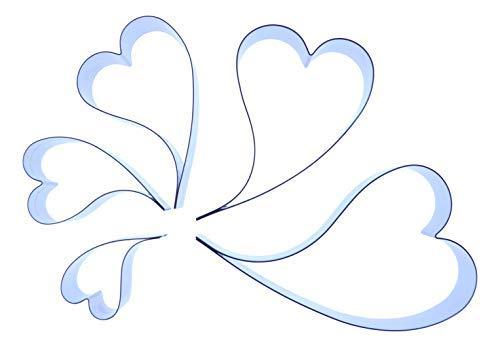 Curvy cuore (curvo wonky)–acciaio inossidabile sugarcraft cutters–varie misure disponibili–valley cutter company–decorazioni san valentino, decorazione torte, fimo, polimero argilla e metallo prezioso, acciaio inossidabile, pack of 5 containing all sizes