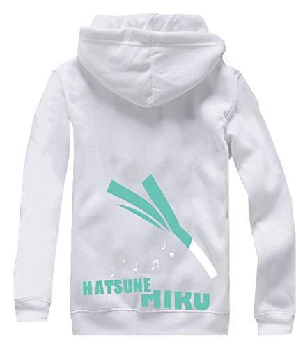 Cosstars Anime Vocaloid Hatsune Miku Hoodie Jacket Cosplay Kostüm Zipper Pullover Jacke Outwear Sweatshirt Mantel Weiß - Tank Girl Cosplay Kostüm