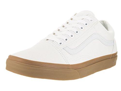Vans Old Skool Unisex - Erwachsene Old Skool (Canvas Gum) True White/Light Gum