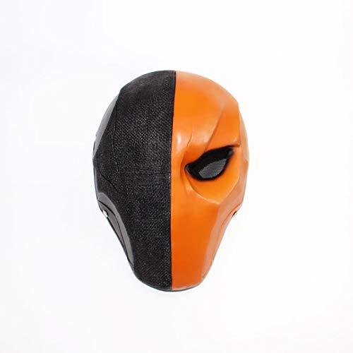 Kostüm Cosplay Deathstroke - Deathstroke Helm Pfeil Saison 5 Cosplay Helm Voller Gesicht Maske Harz Cosplay Kostüm Zubehör Requisiten Für Maskerade Hallowee