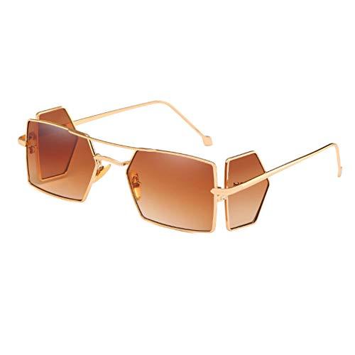 Scrolor Coole Brillen Unisex Vollrand Damen 4 Stück Brillenmode Sonnenbrillen Strahlenschutz Exklusive Einzigartiges Design (Braun,free)