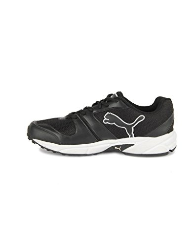 Puma Men's Black and White Synthetic Running Shoes - 8UK