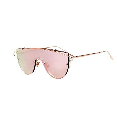 W/TYJ Paar Sonnenbrillen - Reflektierend - Brillen Für Männer Und Frauen (Farbe : Gold/pink)