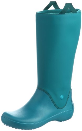 crocs RainFloe Boot, Damen Gummistiefel, Blau (Juniper/Juniper), 36/37 EU