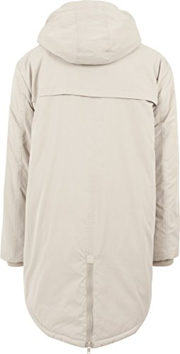 Urban Classics Herren Jacke Cotton Peached Canvas Parka Elfenbein (sand 208)