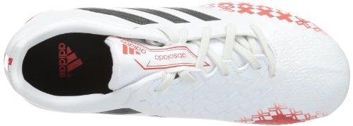 adidas P Absolado Lz Trx Fg J, Chaussures de football mixte enfant Blanc - Weiß (Running White/Hi-Res Orange F13/Black)
